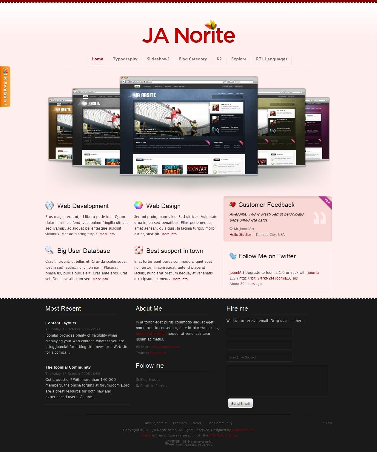 JA Norite - Grid based Joomla template | Joomla Templates and ...