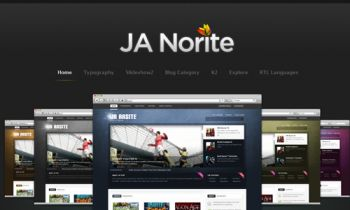JA Norite - Grid based Joomla template
