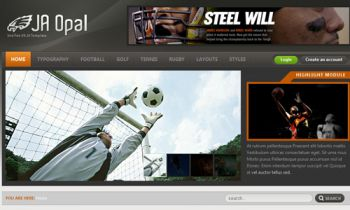 JA Opal - Joomla Sports News Template