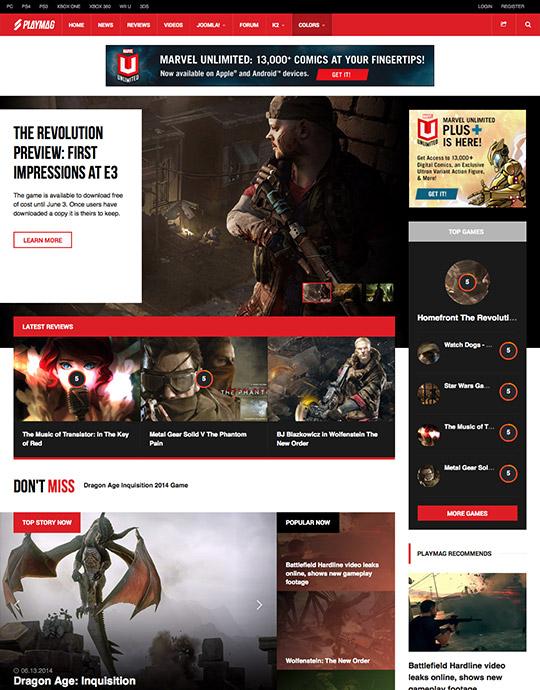 JA Playmag Responsive Joomla Template For Joomla Joomla - Online magazine template