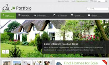 Real Estate Showcase Joomla template - JA Portfolio