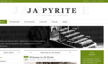 JA Pyrite - Beautiful web typeface for Joomla