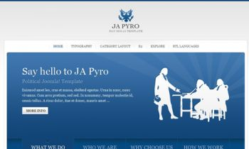 JA Pyro - Web 2.0 Joomla blog template