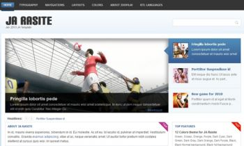 JA Rasite - Welcome 2010 Fresh Joomla design