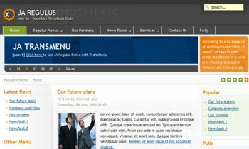 JA Regulus - Joomla template with SuckerFish menu and Transmenu