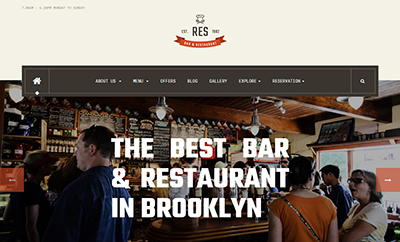 Responsive Restaurant Joomla template