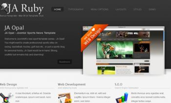 JA Ruby - JoomlArt additional template for March 09