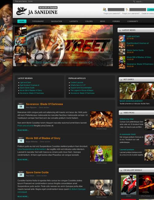 Community Template. gaming templates from themeforest. ja sanidine ...