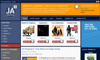 JA Shopping II - Virtuemart templte for Joomla