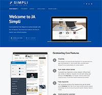 JA Simpli - the best Free Joomla template