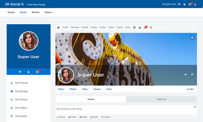 Joomla Social Template for Community