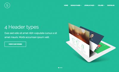 Joomla template for Designer Portfolio