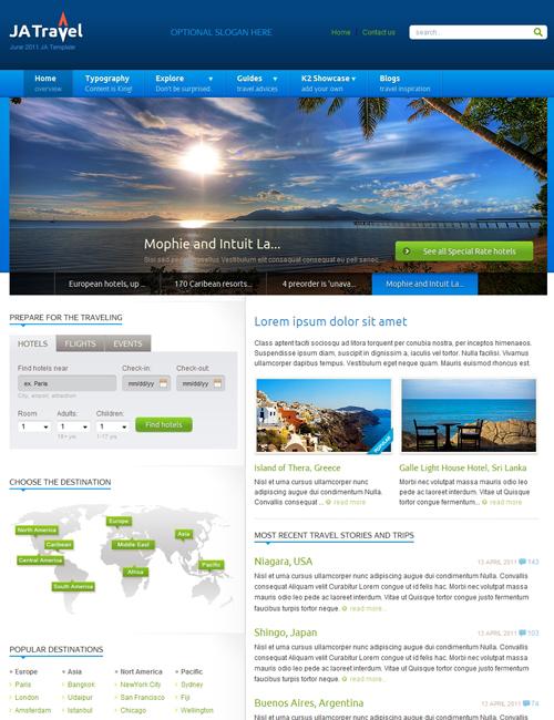 JA Travel - Best Joomla Travel Template | Joomla Templates and ...