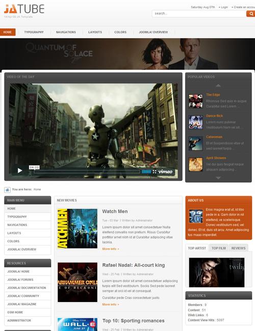 JA Tube - Modern video & media template | Joomla Templates and ...
