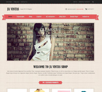 JA Vintas - Joomla 2.5 Shopping template with Virtuemart