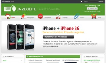 JA Zeolite - Virtuemart inside - go shopping with Joomla