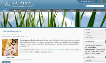 JA Zibal -  Easy customization Joomla template