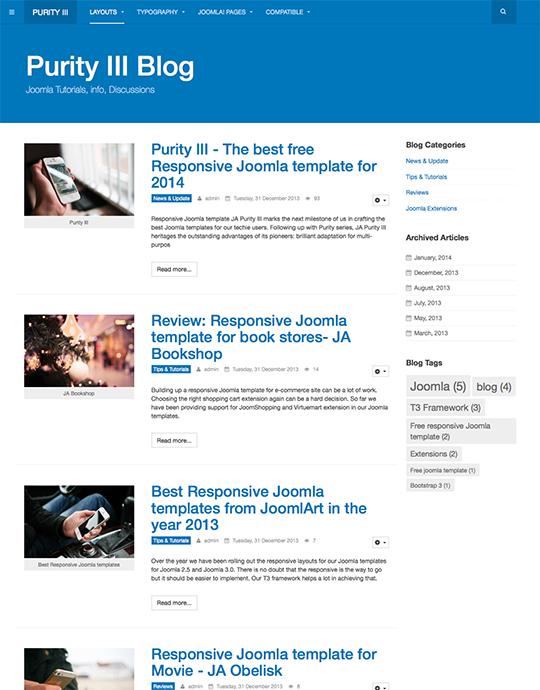 Purity III - the best free responsive Joomla template | Joomla ...