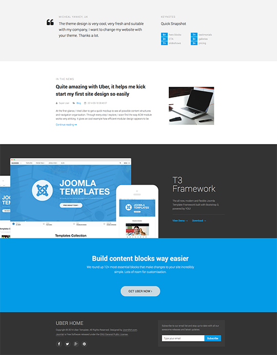 Uber - Responsive All in one Joomla template | Joomla Templates ...