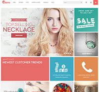 Responsive Magento theme for craft stores