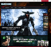 Responsive Magento ecommerce Gaming theme