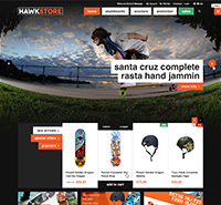 Magento theme for your skate shop, accessory store