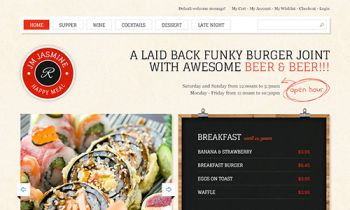 JM Jasmine - Responsive Magento theme for food items, restaurants, handmade and sewing shops