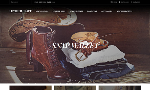 JM Leathercraft - Responsive Magento theme for fashion stores