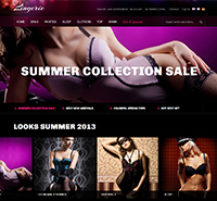 Responsive Magento theme for Lingerie stores