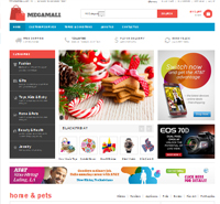 Responsive Magento theme for online supermarket