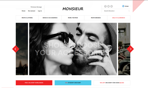 JM Monsieur - Responsive Fashion Magento Theme