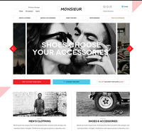 Responsive Magento theme for menswear fashion