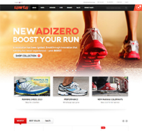 Responsive Magento theme for sport stores